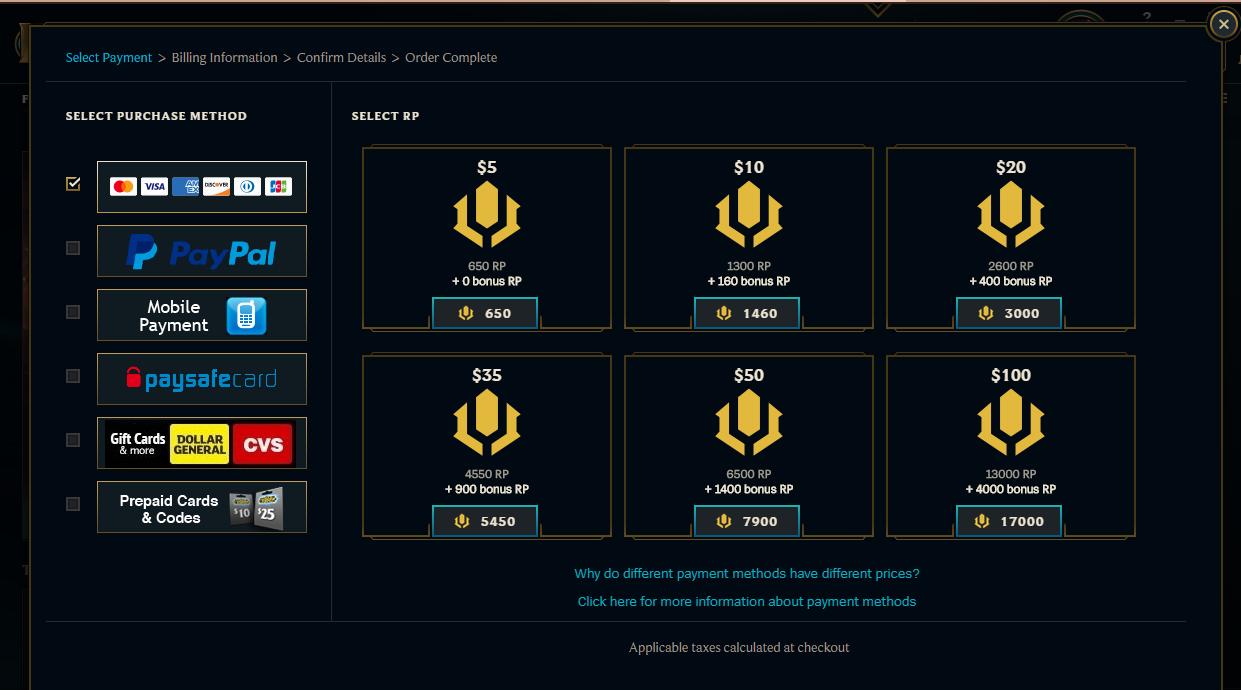 League of Legends: Riot Games alza i prezzi per gli RP