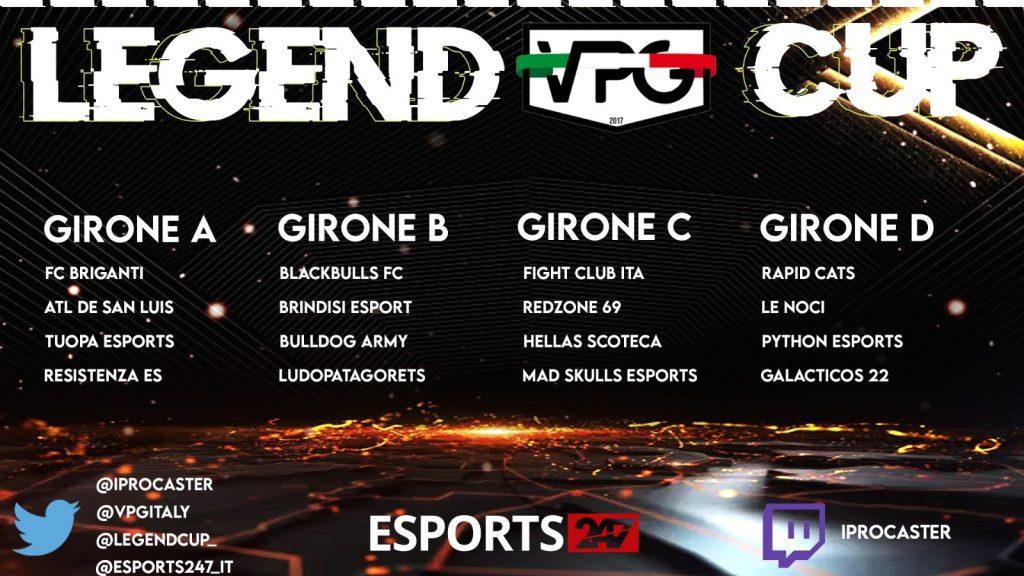 legend vpg cup edizione speciale